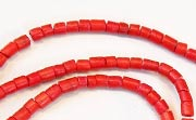 Heishi, 2/3mm, Coco, Scarlet Red beads, DYED COCONUT BEADS