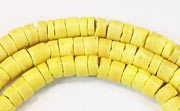 Heishi, 4/5mm, Coco, Lemon Yellow beads, DYED COCONUT BEADS