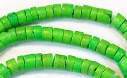 Heishi, 4/5mm, Coco, Spring Green beads, DYED COCONUT BEADS