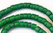Heishi, 4/5mm, Coco, Forest Green beads, DYED COCONUT BEADS