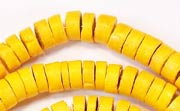 Heishi, 7/8mm, Coco, Golden Yellow beads, DYED COCONUT BEADS