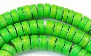 Heishi, 7/8mm, Coco, Spring Green beads, DYED COCONUT BEADS