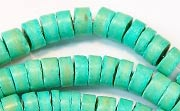 Heishi, 7/8mm, Coco, Turquoise beads, DYED COCONUT BEADS