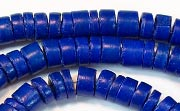 Heishi, 7/8mm, Coco, Royal Blue beads, DYED COCONUT BEADS