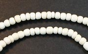 Pucalet, 2/3mm, Coco, White beads, DYED COCONUT BEADS