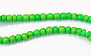 Pucalet, 2/3mm, Coco, Spring Green beads, DYED COCONUT BEADS