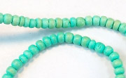Pucalet, 2/3mm, Coco, Turquoise beads, DYED COCONUT BEADS
