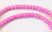 Pucalet, 2/3mm, Coco, Carnation Pink beads, DYED COCONUT BEADS