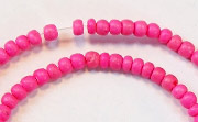 Pucalet, 2/3mm, Coco, Hot Pink beads, DYED COCONUT BEADS