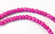 Pucalet, 2/3mm, Coco, Fuchsia beads, DYED COCONUT BEADS