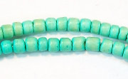 Pucalet, 4/5mm, Coco, Turquoise beads, DYED COCONUT BEADS