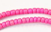 Pucalet, 4/5mm, Coco, Hot Pink beads, DYED COCONUT BEADS