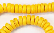 Pucalet, 8mm, Coco, Golden Yellow beads, DYED COCONUT BEADS