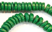 Pucalet, 8mm, Coco, Forest Green beads, DYED COCONUT BEADS