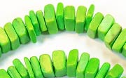 Square Cut, 7/8mm, Coco, Spring Green beads, DYED COCONUT BEADS