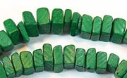 Square Cut, 7/8mm, Coco, Forest Green beads, DYED COCONUT BEADS