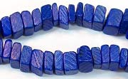 Square Cut, 7/8mm, Coco, Royal Blue beads, DYED COCONUT BEADS