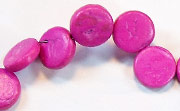 Side Drill, 10mm, Coco, Fuchsia beads, DYED COCONUT BEADS