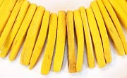 Indian Stick, 25mm, Coco, Golden Yellow beads, DYED COCONUT BEADS