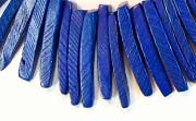 Indian Stick, 25mm, Coco, Royal Blue beads, DYED COCONUT BEADS