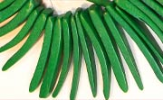 Indian Stick, 38mm, Coco, Forest Green beads, DYED COCONUT BEADS