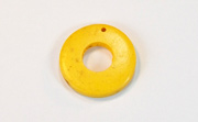 Donut, 20/9mm, Coco, Golden Yellow beads, DYED COCONUT PENDANTS & PARTS