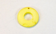 Donut, 20/9mm, Coco, Lemon Yellow beads, DYED COCONUT PENDANTS & PARTS