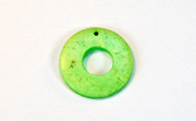 Donut, 20/9mm, Coco, Lime Green beads, DYED COCONUT PENDANTS & PARTS