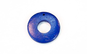 Donut, 20/9mm, Coco, Royal Blue beads, DYED COCONUT PENDANTS & PARTS