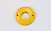 Donut, 20/9mm, Coco, 2 Holes, Golden Yellow beads, DYED COCONUT PENDANTS & PARTS
