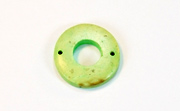 Donut, 20/9mm, Coco, 2 Holes, Lime Green beads, DYED COCONUT PENDANTS & PARTS