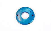 Donut, 20/9mm, Coco, 2 Holes, Azure Blue beads, DYED COCONUT PENDANTS & PARTS