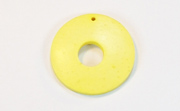 Donut, 25/8mm, Coco, Lemon Yellow beads, DYED COCONUT PENDANTS & PARTS