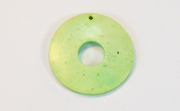 Donut, 25/8mm, Coco, Lime Green beads, DYED COCONUT PENDANTS & PARTS