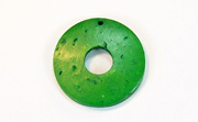 Donut, 25/8mm, Coco, Forest Green beads, DYED COCONUT PENDANTS & PARTS