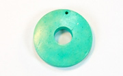 Donut, 25/8mm, Coco, Turquoise beads, DYED COCONUT PENDANTS & PARTS