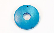 Donut, 25/8mm, Coco, Azure Blue beads, DYED COCONUT PENDANTS & PARTS