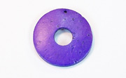 Donut, 25/8mm, Coco, Violet beads, DYED COCONUT PENDANTS & PARTS