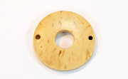 Donut, 25/8mm, Coco, 2 Holes, Natural beads, DYED COCONUT PENDANTS & PARTS