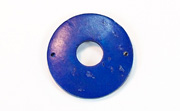 Donut, 25/8mm, Coco, 2 Holes, Royal Blue beads, DYED COCONUT PENDANTS & PARTS