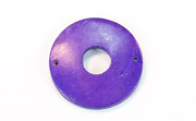 Donut, 25/8mm, Coco, 2 Holes, Violet beads, DYED COCONUT PENDANTS & PARTS