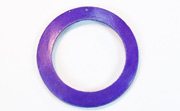 Donut, 40/28mm, Coco, Violet beads, DYED COCONUT PENDANTS & PARTS