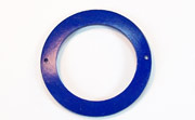Donut, 40/28mm, Coco, 2 Holes, Royal Blue beads, DYED COCONUT PENDANTS & PARTS