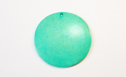 Disc, 40mm, Coco, Turquoise beads, DYED COCONUT PENDANTS & PARTS