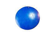 Disc, 40mm, Coco, Royal Blue beads, DYED COCONUT PENDANTS & PARTS