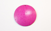 Disc, 40mm, Coco, Fuchsia beads, DYED COCONUT PENDANTS & PARTS