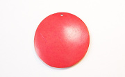 Disc, 40mm, Coco, Scarlet Red beads, DYED COCONUT PENDANTS & PARTS