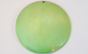 Disc, 60mm, Coco, Lime Green beads, DYED COCONUT PENDANTS & PARTS