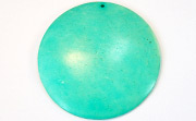 Disc, 60mm, Coco, Turquoise beads, DYED COCONUT PENDANTS & PARTS