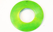 Donut, 50/22mm, Coco, Spring Green beads, DYED COCONUT PENDANTS & PARTS
